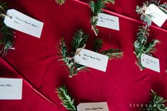 Christmas Wedding Placecard