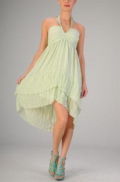 $49.99 Womens Small Dress * NEW* Sage Hi Low Halter Dress Super Cute ~~