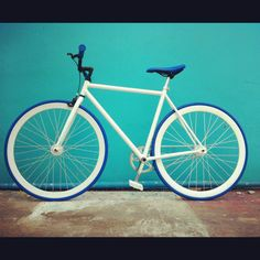 White o blue fixed gear. :)