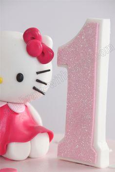 Celebrate with Cake!: 1st Birthday Hello Kitty Tier Cake