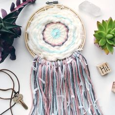 Woven Dreamcatcher / Woven Wall Hanging / Circle by WildFigCo