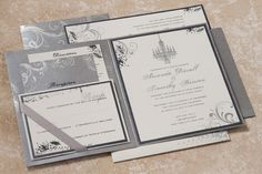 Inked Quill wedding invitation suite from Arabella Papers. Customize yours with Paper Passionista.