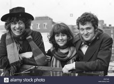 The Fourth Doctor with companions Sarah Jane Smith and Dr. Harry Sullivan