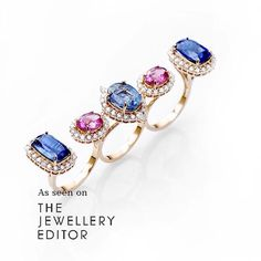 The hippest way to combine your stones over on www.thejewelleryeditor.com with @farahkhanali new #lejardinexotique collection multi-finger ring with kyanite, rubellite and diamond #farahkhanali #luxury #summer #style #diamonds #kyanite #rubellite #love