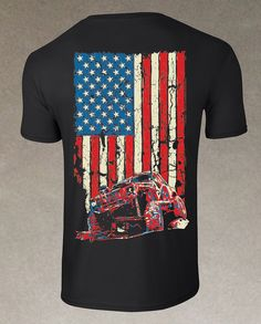 I need to get this for my husband...he'd love it. Jeep Cherokee XJ American Flag T-Shirt #itsajeepshirt