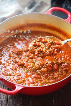 Spicy Venison Chili — Yankitchen Chilli Recipes, Venison Recipes, Keto Recipes, Cooking Recipes, Venison Chilli, Beef, Honey Garlic Pork Chops, Ground Venison, Asian Soup