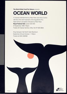 Tom Eckersley, WWF[Worldwide Wildlife Fund] poster - TEC - VADS: the online resource for visual arts Modern Graphic Design, Retro Design, Graphic Design Illustration, Wwf Poster, Poster Prints, English Posters, Teaching Habitats, Vintage Poster, Oceans Of The World
