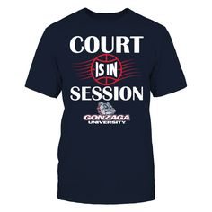 Gonzaga Bulldogs - Court Is In Session T-Shirt  Gonzaga Bulldogs Official Apparel - this licensed gear is the perfect clothing for fans. Makes a fun gift!  AVAILABLE PRODUCTS District Men's Premium T-Shirt - $27.95   District Men District Women Gildan Unisex Pullover Hoodie Next Level Women Gildan Long-Sleeve T-Shirt Gildan Fleece Crew Gildan Youth T-Shirt View sizing / material info BUY IT NOW ...