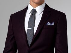 INDOCHINO - The Gasper Burgundy Herringbone Blazer
