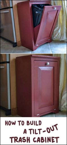 This DIY Tilt-Out Trash Cabinet Keeps Your Trash Bin Out of Sight