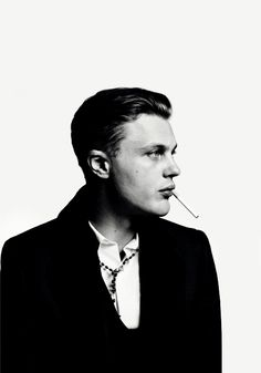 Michael Pitt (1981) - American actor, model and musician. Photo by Hedi Slimane