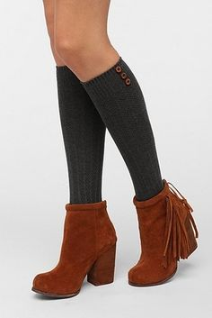 #EdObsession: Buttoned-Up Knee-High Sock from @Ashley Urban Outfitters $14