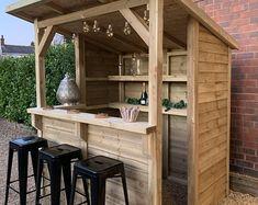 Outdoor Wooden Bar, Outdoor Patio Bar, Backyard Bar, Wooden Gazebo, Outdoor Bars, Outside Bars, Pool Bar, Wooden Garden, Patio Bar