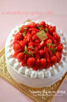 いちごたっくさんのショートケーキ