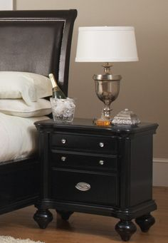 Coaster 201862 Transitional Night Stand Black New   $269.00