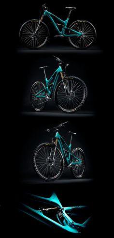 mtb, mountainbiking Yeti SB95 Carbon mountain bike, so schick, posierend wie ein Model