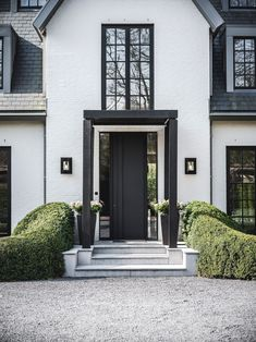 Villa, Back Doors, Entrance Hall, New Builds, The Expanse, Places To Travel, Facade, Porch, Windows