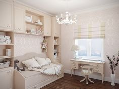 Детская комната. Дизайн интерьера четырехкомнатной квартиры в ЖК «Морской фасад», 153 кв.м.