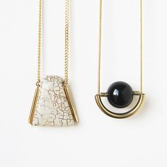 Mr Howlite gold filled chain and components howlite by sewasong, €30.00
