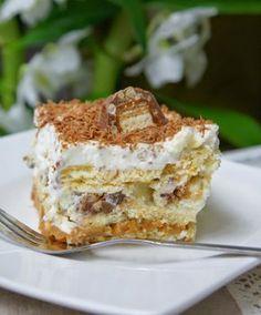 Rychlý, nepečený zákusek. Je to opravdu kalorická bomba, ale jednou za čas si to přece můžeme dopřát. Mňamka! Cakes And More, No Bake Cake, Kids Meals, Tiramisu, Sweet Tooth, Cheesecake, Food And Drink, Sweets, Bread