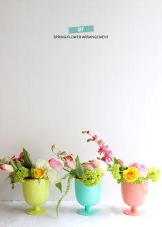 DIY Spring Flower Arrangement | Photography: Valley & Co. - valleyandco.com
