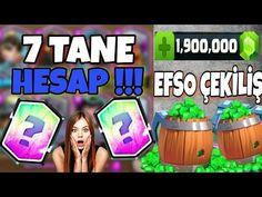 7 TANE HESAP ÇEKİLİŞİ VE 14000 TAŞ ÇEKİLİŞİ !!! CLASH ROYALE - YouTube