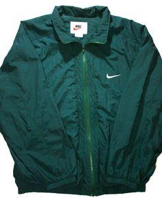 Vintage 90s Nike Green Windbreaker Jacket available at VintageMensGoods, $36.00
