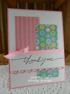 ty card, card idea, simpl layout, card layouts, scrapbook thank you cards, card making, paper scraps, paper crafts, thank u cards