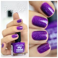 Violet, purple, glitter. DIY Nail Art. Nail Design. Style. Woman. Fashion. Creative.