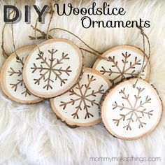 DIY ornaments - stenciled snowflake