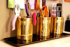 Great for office supplies, and brings in a little bit o' brass / Nicole Lanteri, onmyagenda.com