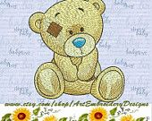"""Sun Bear - machine embroidery design for a baby and children of series """"Old Toy"""", ArtEmbroidery.ca"""