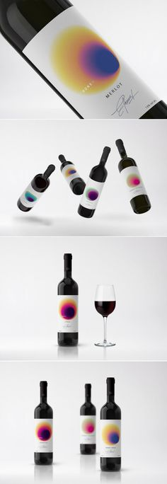 Check Out The Mesmerizing Gradients On These Conceptual Wine Labels — The Dieline | Packaging & Branding Design & Innovation News
