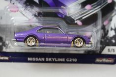 Hot Wheels *Japan 2 Historics* Nissan Skyline C210 purple NEW 5/5 2017 #HotWheels #Nissan
