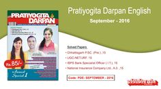 Pratiyogita Darpan English September 2016 with Solved Papers.