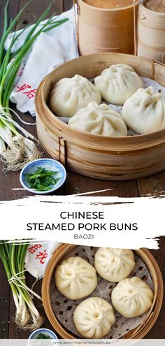 Pork Recipes, Asian Recipes, Cooking Recipes, Steamed Pork Buns, Steamed Buns Dough Recipe, Chinese Steamed Bun Recipe, Pork Steam Buns Recipe, Gourmet, Appetizers