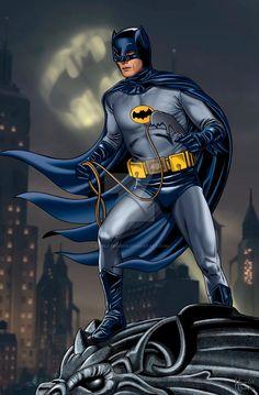 Batman Adam West 1966 by hamletroman on DeviantArt Batman Vs Superman, Batman Robin, Adam West Batman, Batman 1966, Batman Arkham, Batman Tv Show, Batman Tv Series, Batman Artwork, Batman Wallpaper