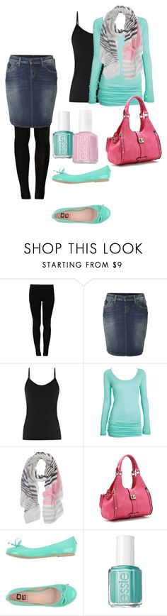 """""""Cotton candy spring outfit"""" by chellebelle28 ❤ liked on Polyvore featuring even&odd, True Religion, Reiss, Robert Matthew, O6 Milano and Essie"""