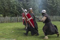 Hospitaller Knights charging the enemy line.  www.hospitaalridders.nl