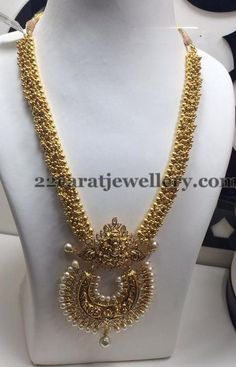 Jewellery Designs: Gold Swirls Long Chain