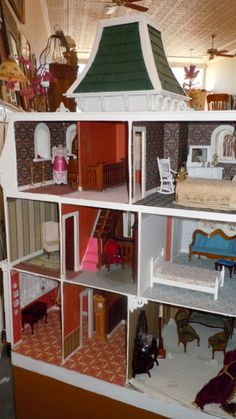 Second Empire French style doll house in progress