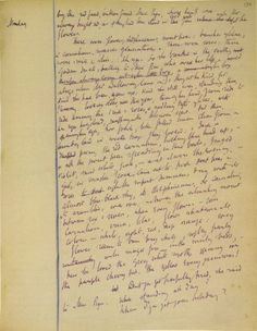 Virginia Woolf's draft for Mrs. Dalloway. www.artexperiencenyc.com