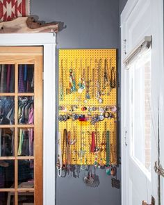 Hang your necklaces! 10 More Clever Things to Do with Pegboard