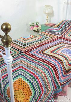 Image result for modern uses for vintage granny square bedding