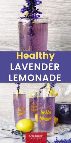 refreshing and healthy lemonade recipe and if you have been searching for the best lavender lemonade with honey, this is it. This is the best homemade lavender lemonade I have ever tasted Lemonade Recipe With Lemons, Easy Lemonade Recipe, Healthy Lemonade, Honey Lemonade, Homemade Lemonade Recipes, Lavender Lemonade, Healthy Drinks, Healthy Recipes, Lavender Drink