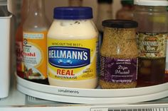 Lazy Susan in the fridge!  How have I not thought to do this already? Seriously.
