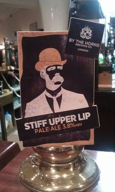 Stiff Upper Lip by wonker, via Flickr Upper Lip, Brewing Co, New Product, Craft Beer, Brewery, Horns, Snow Globes, Ale, Pump