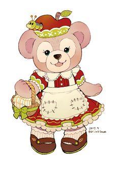 Afbeeldingsresultaat voor duffy and shelliemay Disney Dream, Cute Disney, Disney Magic, Disney Art, Bear Cartoon, Cartoon Art, Duffy The Disney Bear, Disney Cookies, Bear Images