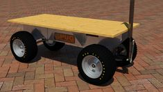 The 18000 series trucks are capable of 1500lbs loads. It is designed to fit through standard doorways, and pick truck boxes. This cart can be pulled manually or using a lawn tractor or ATV. It large tires help roll over bumpy terrain and reduce ground pressure to reduce sinking Truck Boxes, Electric Utility, Atv, Pugs, Tractors, Monster Trucks, Platform, Technology, Design