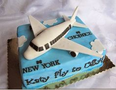 50 Best Airplane Birthday Cakes Ideas And Designs Birthday Cakes For Men, Airplane Birthday Cakes, Birthday Cake Pictures, Birthday Cake Toppers, Airplane Cakes, Men Birthday, Cake Inspiration, Farewell Cake, Specialty Cakes